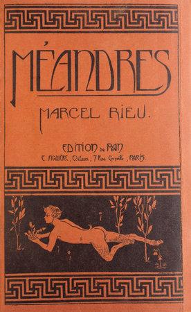 Méandres. by RIEU, Marcel.