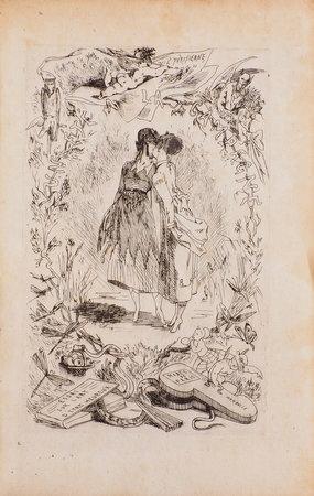 Un Été à la campagne: Correspondance de deux jeunes parisiennes recuilli par un auteur à la mode. by [ROPS, Felicien, illustrator].
