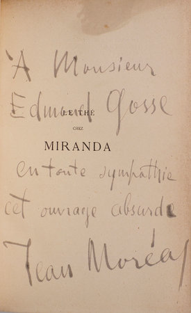 Le Thé chez Miranda. by MORÉAS, Jean and Paul ADAM.