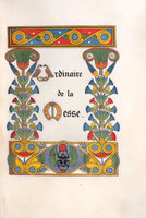 Ordinaire de la Messe [Messe de Mariage]. by (ILLUMINATED MANUSCRIPT). [GRUEL, Léon, binder].
