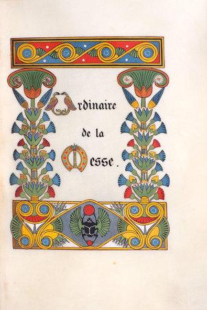 Ordinaire de la Messe [Messe de Mariage]. by (ILLUMINATED MANUSCRIPT). [GRUEL, Léon, binder].