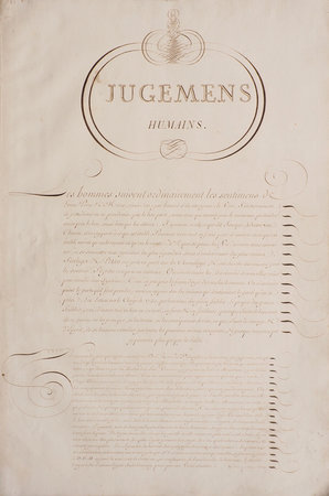 Jugemens humains [and other extracts]. by (CALLIGRAPHY). GREGOIRE, L.