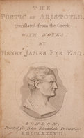 The Poetic of Aristotle, translated from the Greek, with Notes … by PYE, Henry James.