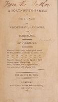 Windermere, a Poem. by BUDWORTH, Joseph. [later PALMER].