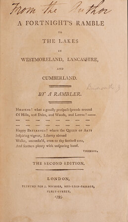 Windermere, a Poem. by BUDWORTH, Joseph. [later PALMER].