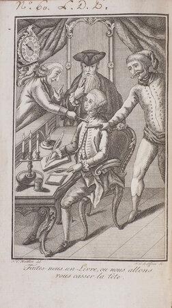 Le Livre fait par force, ou, le Mystificateur mystifié et corrigé. by [LE BAULD DE NANS, Claude-Étienne].