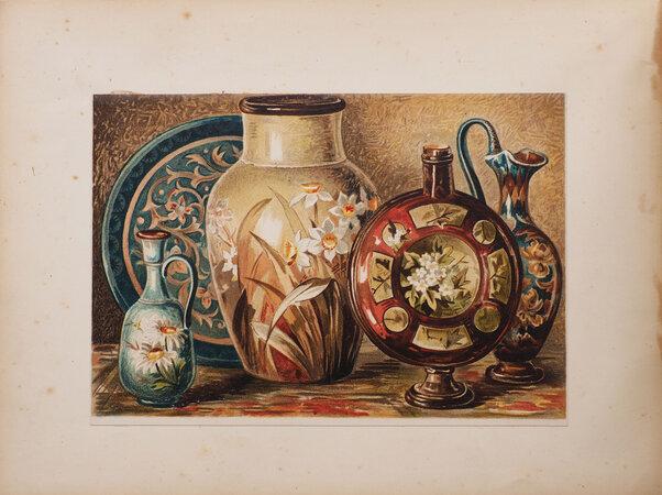Cours de peinture sur porcelaine... traduit de l'anglais par E. Roubaud. by LEWIS, Florence.