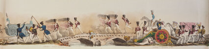 Another image of Bengal Troops on the Line of March. A Panoramic Sketch by an Officer of that Army. by LUDLOW, William Andrew.