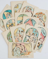 [14 coloured erotic cards]. by (EROTICA).