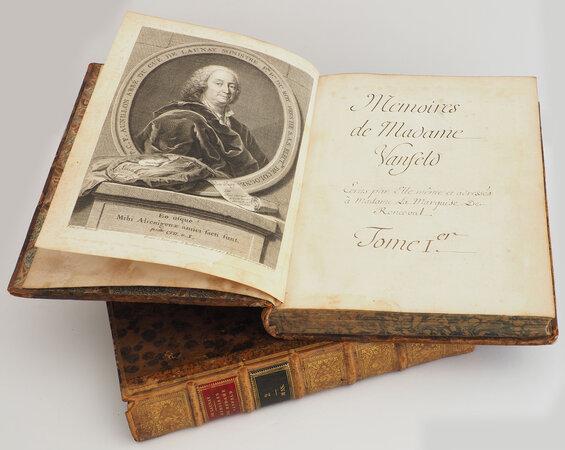 Memoires de Mad[am]e Vanfeld adressés à mad[am]e la marquise de Ronceval by [AUNILLON, Pierre Charles Sabiot, Abbé. L[ouis] Vigée, illustrator].