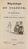 Physiologie du flâneur … Vignettes de MM. Alophe, Daumier et Maurisset. by [PHYSIOLOGIES]. HUART, Louis.