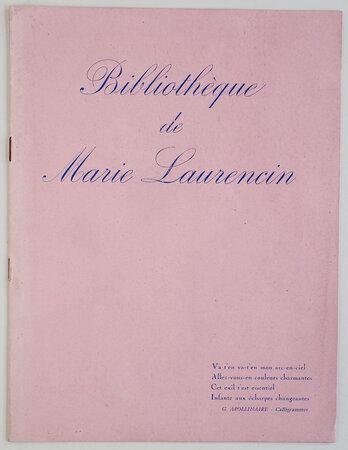 Bibliothèque de Marie Laurencin. by (LAURENCIN, Marie).