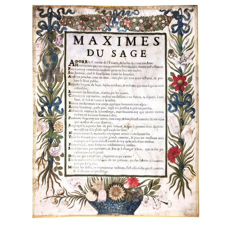 Maximes du sage. by (PRINTING ON VELLUM).