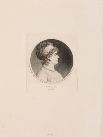 Mme Roland. by CHRETIEN, Gilles-Louis. [ Jeanne-Marie ROLAND DE LA PLATIERE CHRETIEN].