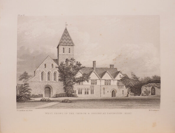 Historical Sketch of the Parish of Davington in the County of Kent and of the Priory there dedicated to S. Mary Magdalene. With appendices and plates. by WILLEMENT, Thomas.