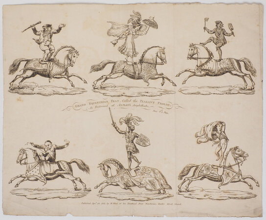 Grand Equestrian Feat, called the Peasant Frolic. As performed at Astley's Amphitheatre. Price 4d 1/2 Plain. by (CIRCUS). (TOY THEATRE).