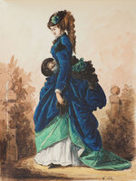 [An Album of 50 Watercolours depicting Women's Fashion. by (FASHION).