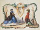 Another image of [An Album of 50 Watercolours depicting Women's Fashion. by (FASHION).