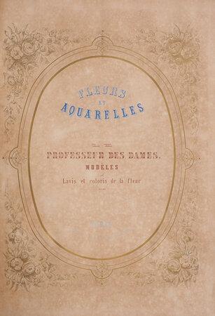 Professeur des dames. Modèles de lavis et coloris de la fleur. by FLEURS ET AQUARELLES