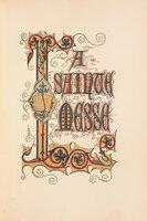 Livre d'heures edité et illustré par Mlle A. Rabeau. by RABEAU, M[ademoisell]e A.