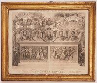 Calendrier perpétuel. La Famille Royale. by (PERPETUAL CALENDAR) PHELIPPEAUX, [Antoine, engraver, after] MASSARD.
