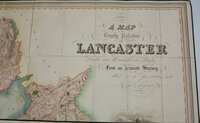 A Map of the County Palatine of Lancaster Divided into Hundreds and Parishes from an accurate Survey made in the Years 1828 and 1829. by HENNET, George surveyor