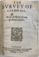 The Survey of Cornwall by CAREW, Richard (1555-1620)