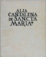 Alla Cantalena de Sancta Maria. [illus. with woodcuts by Loyd Haberly] by [SEVEN ACRES PRESS] AWDLAY, John
