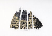 Babel Tower in Pieces. by DESMET, Anne RA RE, b. 1964