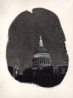 St Paul's: Dusk. by DESMET, Anne RA RE, b. 1964