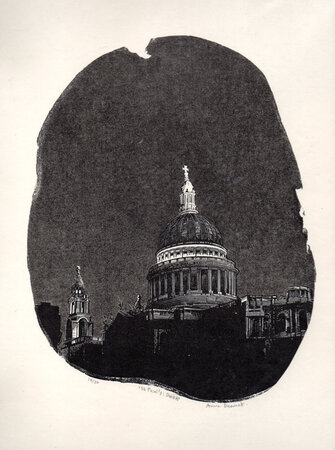 St Paul's: Dusk. by DESMET, Anne RA RE, b. 1964