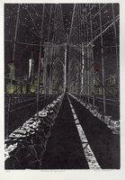 Brooklyn Bridge: Stars. by DESMET, Anne RA RE, b. 1964