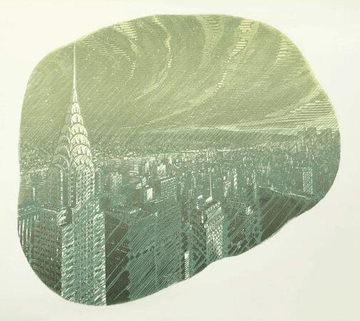 Manhattan Rain. by DESMET, Anne RA RE, b. 1964