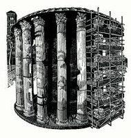 Temple of Vesta. by DESMET, Anne RA RE, b. 1964