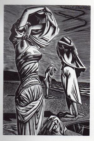 Baigneuses. by BUCKLAND WRIGHT, John. FLEECE PRESS.