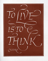 To Live Is to Think. by WYATT, Leo. CICERO.