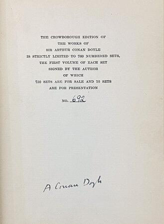 The Crowborough Edition. by HOLMES, Sherlock. DOYLE, Arthur Conan.
