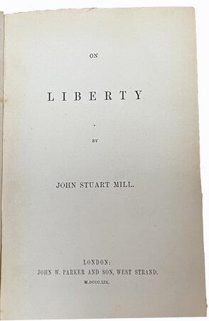 On Liberty. by MILL, John Stuart.