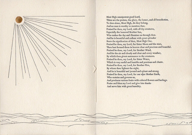 Canticle of the Sun by Saint Francis of Assissi. by BLINN, Carole J. WARWICK PRESS.