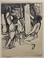 Artist and Model. by BUCKLAND WRIGHT, John (1897-1954