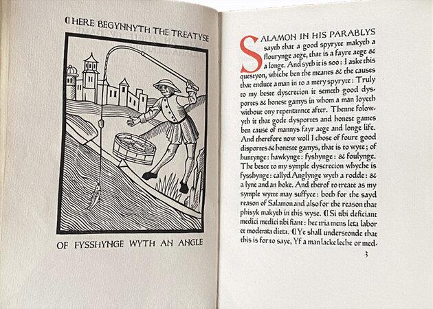 A Treatyse of Fysshyne wyth an Angle. by ASHENDENE PRESS. BERNERS, Dame Juliana.