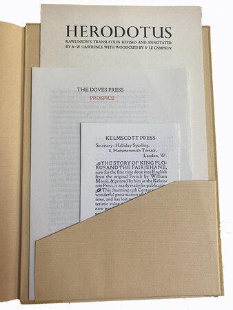 British Private Press Prospectuses 1891-2001. by WHITTINGTON PRESS. BUTCHER, David.