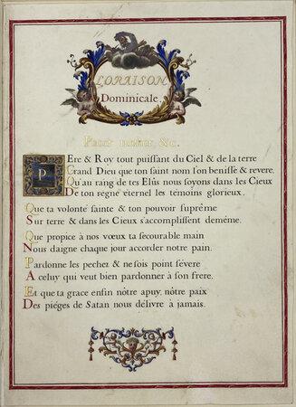 L'Oraison Dominicale. by ROUSSELET, Gilles, calligrapher.