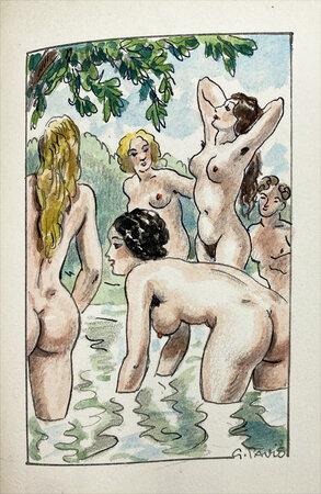 Les Bains de Bade: petit roman d'aventures galantes & morales. by PAVIS, Georges. KIEFFER, Rene. BOYLESVE, Rene.