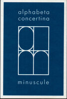 alphabeta concertina minuscule. by KING, Ron. CIRCLE PRESS.