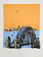 Sydney Harbour Bridge. by HOGARTH, Paul (1917-2001)