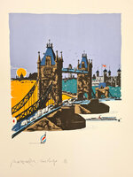 Tower Bridge. by HOGARTH, Paul (1917-2001)