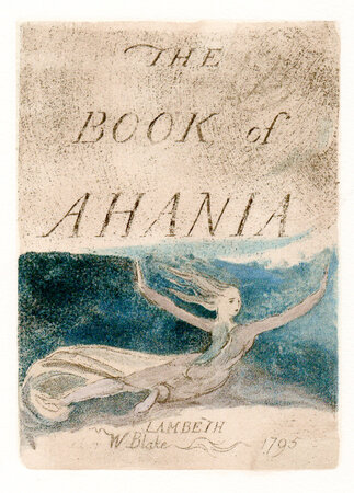 The Book of Ahania. by BLAKE, William. TRIANON PRESS.