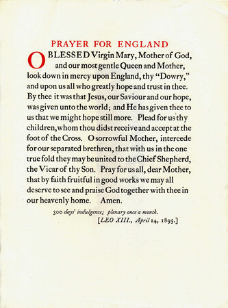 Prayer for England. by S. DOMINIC'S PRESS.