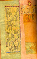 Solomon's Gold. by SAUMEREZ SMITH, Romilly, binder. DOLBY, Hazel, scribe.